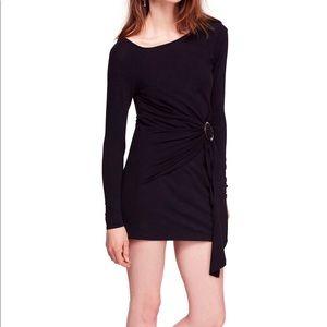 Free people Frankie Bodycon mini dress long sleeve